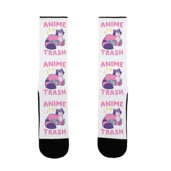 LookHUMAN Anime Trash - Raccoon US Size 7-13 Socks