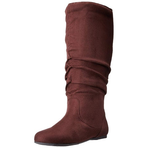 Brinley Co Womens Rebecca Round Toe Knee High Fashion Boots