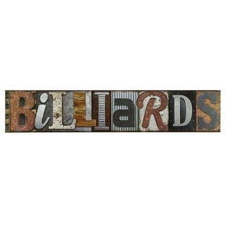 Open Road Brands 90168245-S Billiards Embossed Tin Sign