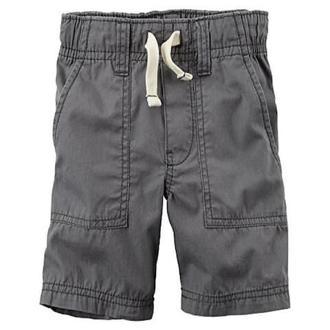Carter's Baby Boys' Pull-On Poplin Shorts - Grey