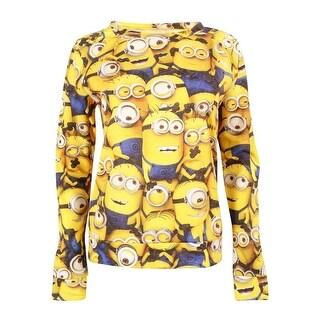 Despicable Me Juniors' Long Sleeve Minion Print Sweatshirt