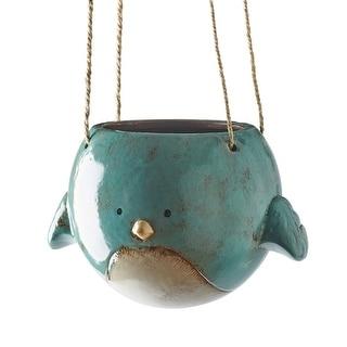 "Women's Bluebird Hanging Planter Pot - Ceramic - 7"" Diameter"
