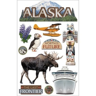 "Paper House 3D Stickers 4.5""x8.5""-Alaska"