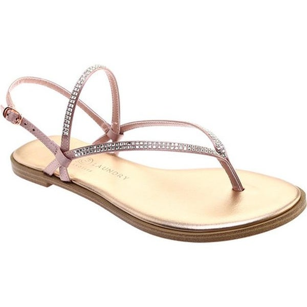 81be09c27de8 Shop Chinese Laundry Women s Gwendela Flat Sandal Nude Crystal Satin ...