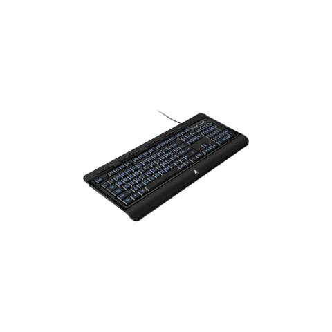 Aluratek AKBLED01F Aluratek Large Print Tri-Color Illuminated USB Keyboard - Cable Connectivity - USB Interface - Compatible