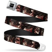 Attack On Titan Logo Full Color Black White Red Titan Form Eren Expressions Seatbelt Belt