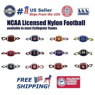 NCAA Nylon Football Toy for Dogs & Cats Sports Toys