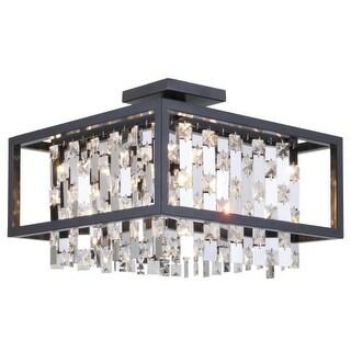 """DVI Lighting DVP6312 12.75"""" Height 4 Light Semi-Flush Ceiling Fixture"""