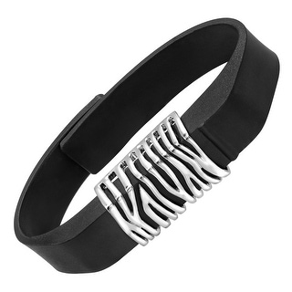 beFITting Zebra Print Fitness Band Accessory in Stainless Steel - White