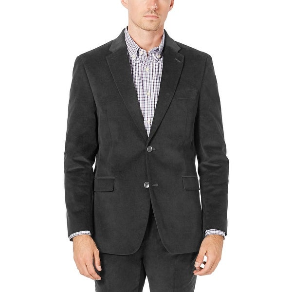 Tommy Hilfiger Mens Colby Modern-Fit Corduroy Sportcoat 38 Long Grey. Opens flyout.