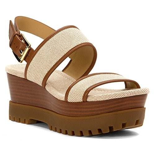 MICHAEL Michael Kors Womens Gillian Wedge Open Toe Casual Platform Sandals