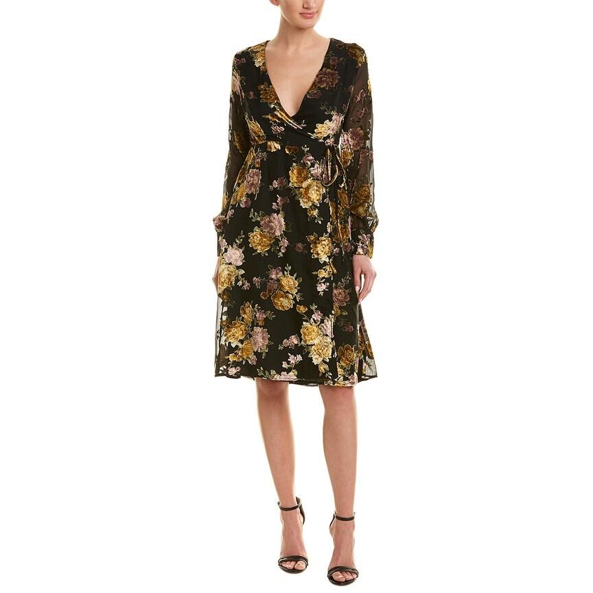 ASTR The Label Valentina Women/'s Floral Print Sleeveless Faux-Wrap Maxi Dress