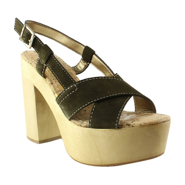 de1b9332748e Shop Sam Edelman Womens Mae MossGreen Wedge Sandals Size 8.5 - Free  Shipping On Orders Over  45 - Overstock - 23123416