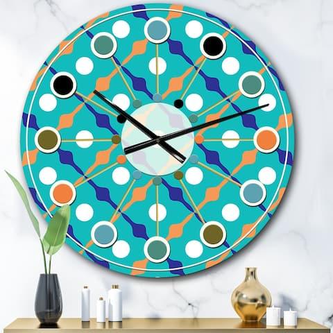 Designart 'Retro Pattern Abstract Design XV' Mid-Century wall clock