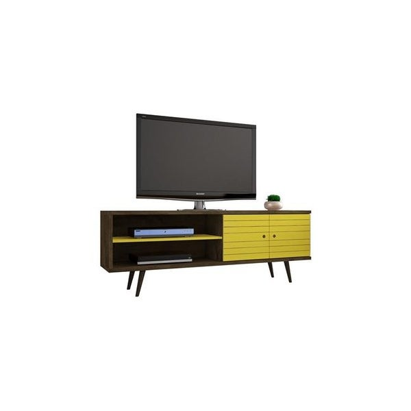 Shop Liberty 62 99 In Mid Century Modern Tv Stand With Solid Wood