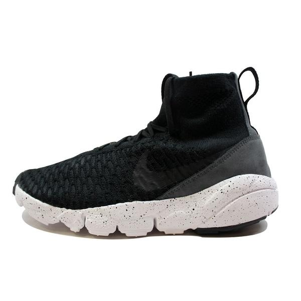 Nike Men's Air Footscape Magista Flyknit Black/Black-Dark Grey-Volt 816560-003 Size 13