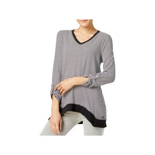 Calvin Klein Performance Womens Pullover Top Striped Fitness
