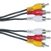 CableWholesale 10R1-03106 RCA Audio  Video Cable  3 RCA Male  6 foot