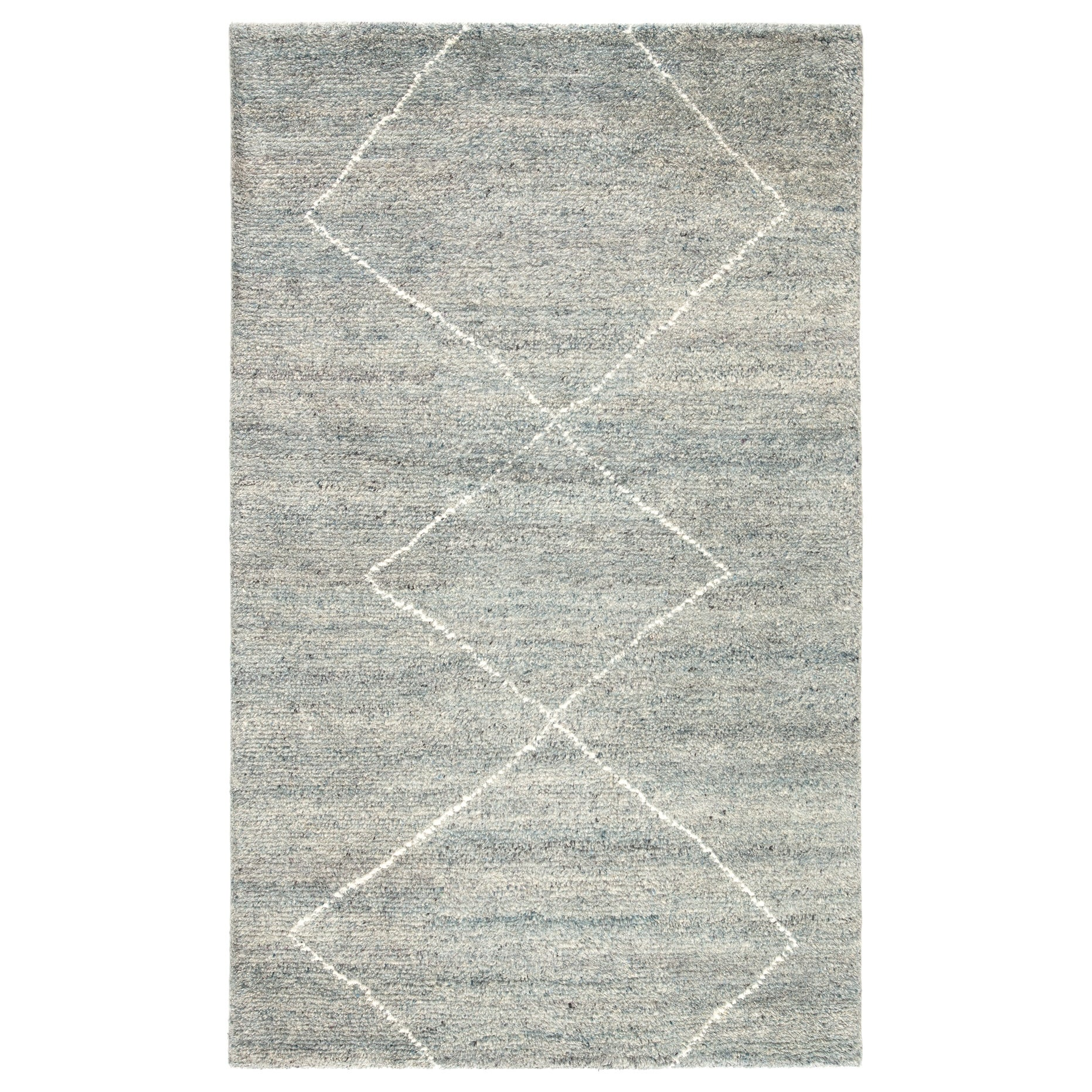 Cohen Hand Knotted Geometric Light Blue Ivory Area Rug On Sale Overstock 25659259
