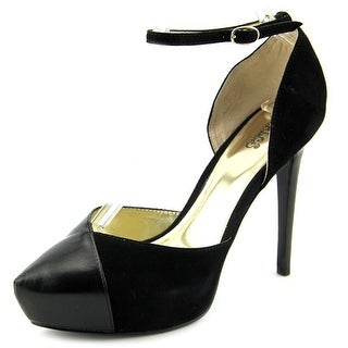 Carlos by Carlos Santana Capelli Women Open Toe Suede Black Platform Heel