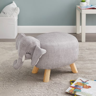 Taylor & Olive Grey Elephant Stool