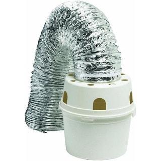 "Dundas Jafine TDIDVKZW ""Proflex"" Indoor Dryer Vent Kit, 4"" x 5'"