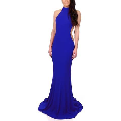 Faviana Womens Evening Dress Prom Halter
