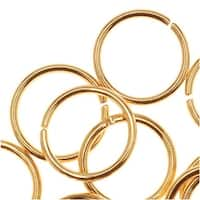 22K Gold Plated Open Jump Rings 8mm 20 Gauge (50)