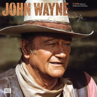 2019 John Wayne Wall Calendar, Male Movie Stars by BrownTrout