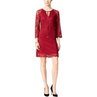 Jessica Simpson Womens Party Dress Lace Sheath