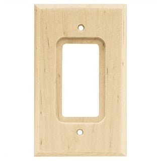 Franklin Brass W10399-C Wood Square Single Rocker / GFI Outlet Wall Plate - unfinished wood