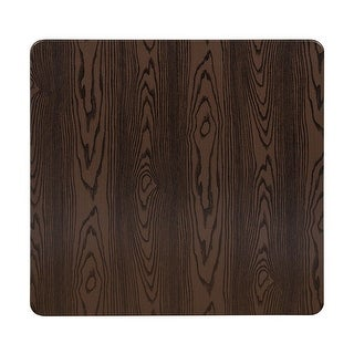 "Offex 42"" Contemporary Square Rustic Wood Laminate Table Top"