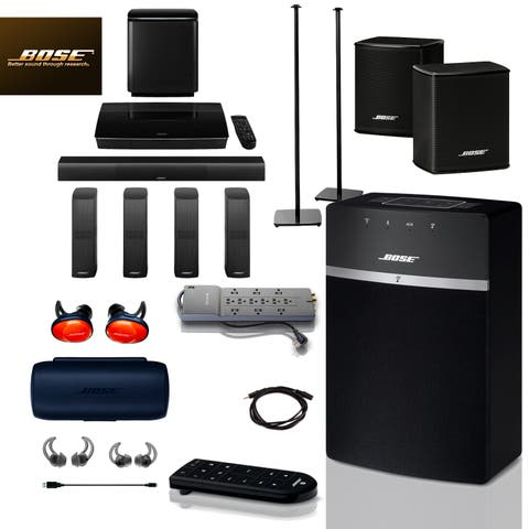 Bose SoundTouch 10 (Black) + FREE SoundSports + 5 pc Acc Bundle