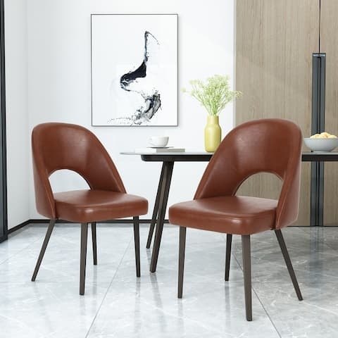 Abbeville Indoor Open Back Dining Chairs by Christopher Knight Home