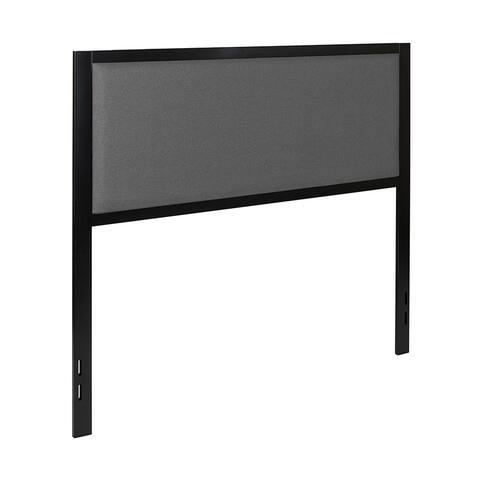 Offex Melbourne Metal Upholstered Panel Headboard Full Size Dark Gray