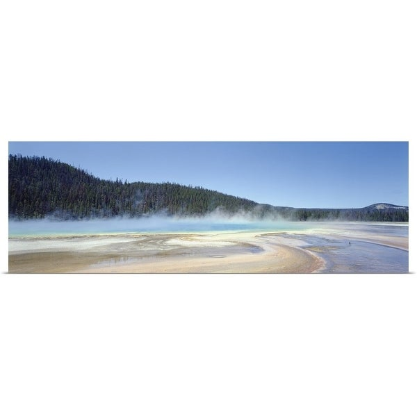 """""""Steam over a hot spring, Grand Prismatic Spring, Yellowstone National Park, Wyoming"""" Poster Print"""