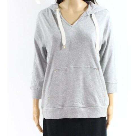 Lauren By Ralph Lauren Gray Womens Size Small S Stretch Hoodie