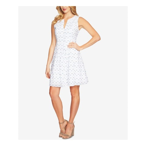 CECE White Sleeveless Above The Knee Dress 6