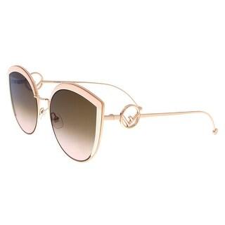 FENDI 0290/S 53 035J Pink Cateye Sunglasses - 58-21-140
