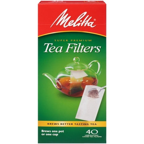 Melitta Loose Tea Filters, 40 Count