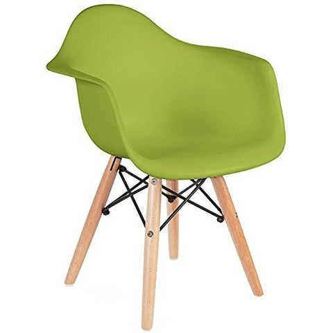 2xhome Set of 2 Kids Chair Green With Arms Armchair Eiffel Leg Dowel Child For Desk Dining Kitchen Bedroom School Activity