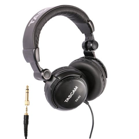 Tascam TH-03 Closed Back Over-Ear Headphone (Black)