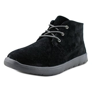 UGG Canoe Youth Round Toe Suede Black Boot