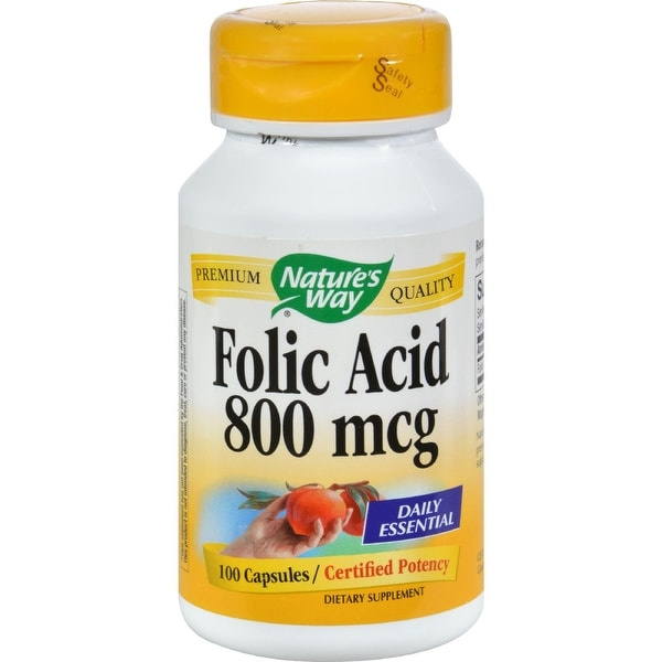 Nature's Way Folic Acid - 800 mcg - 100 Capsules