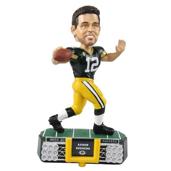 Green Bay Packers Aaron Rodgers #12 Stadium Light Bobblehead - Multi