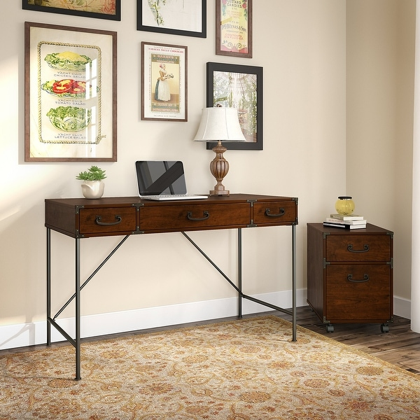 Ironworks Industrial Writing Desk with Cabinet from kathy ireland Home. Opens flyout.