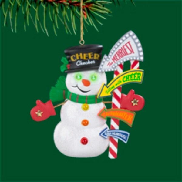 "Carlton Heirloom ""Three Cheers"" Snowman Christmas Ornament"