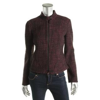 Akris Punto Womens Motorcycle Jacket Tweed Long Sleeves - 6