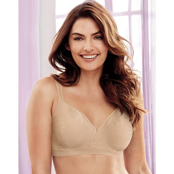 51e421c380feb Shop Bali Comfort Revolution® Wirefree Bra - Size - 34D - Color - Nude  Jacquard - Free Shipping On Orders Over  45 - Overstock - 13852598