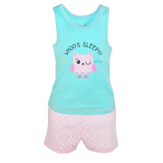 Rene Rofe Girl's Toddler 4 Piece Pajama Set
